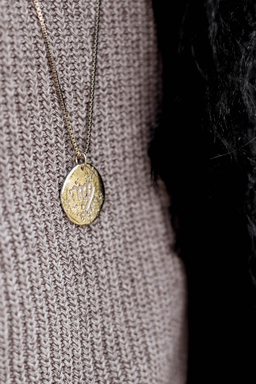 ChloBo Gold Virgo Zodiac Necklace