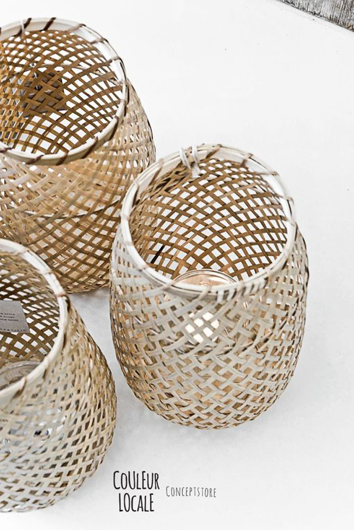 Lamps from natural materials - trend