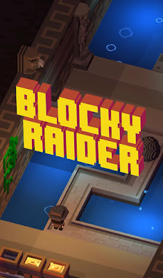 Blocky Raider is an Endless Hopper Voxel Game for iPhone