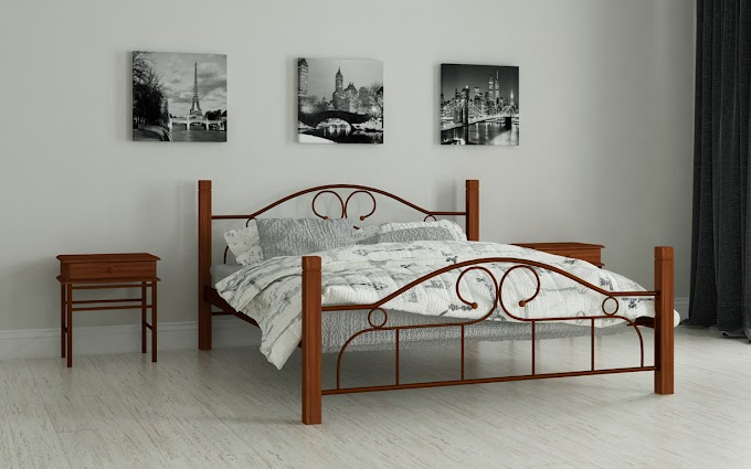 Кровать металлическая Принцесса 120х190/200 ТМ Мадера