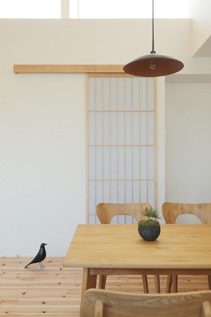 บ้านญี่ปุ่นตกแต่งด้วยนกปลอม