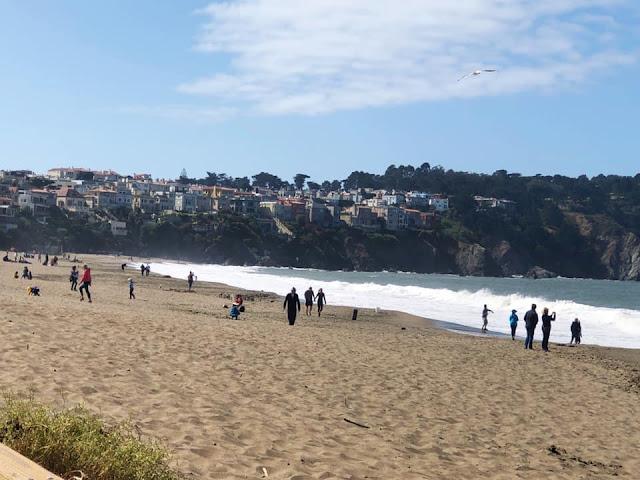 promenade à Baker Beach San Francisco