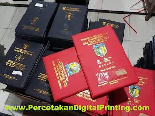 Jasa Percetakan Map Raport K13 Custom Murah Harga Nego Desain Gartis Ongkir