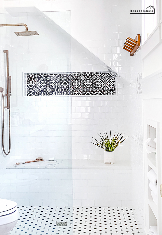 How to easily change the tile look on your shower niche