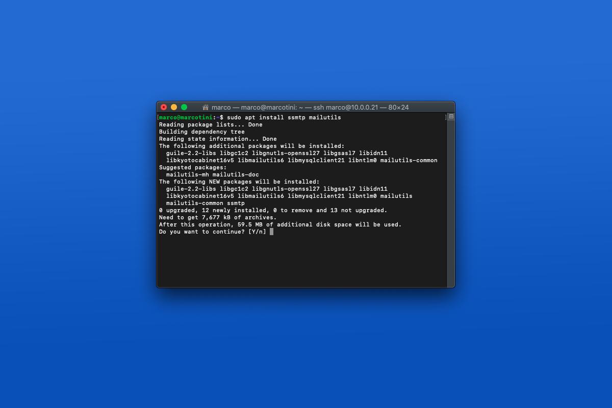 Come configurare SSMTP con Gmail