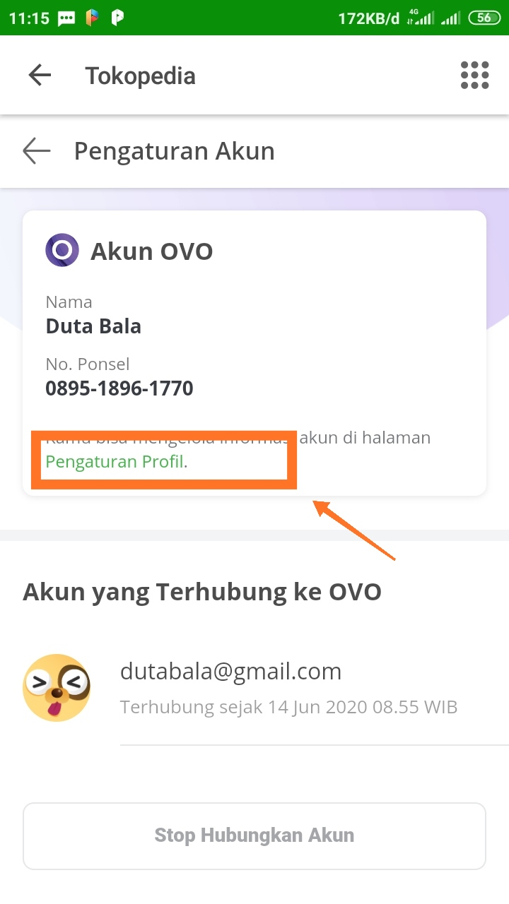 Cara mengganti nomor ovo yang sudah terdaftar di tokopedia ...
