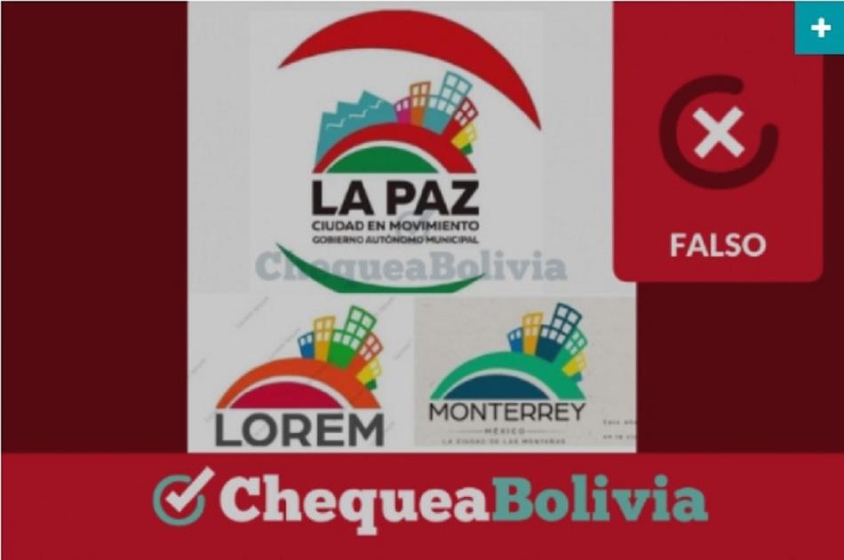 La nueva imagen del GAMLP es provisional y se trabajará el diseño final en concurso público / CHEQUEA BOLIVIA