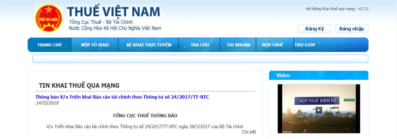 Hướng dẫn kê khai thuế qua mạng kekhaithue | nhantokhai.gdt.gov.vn