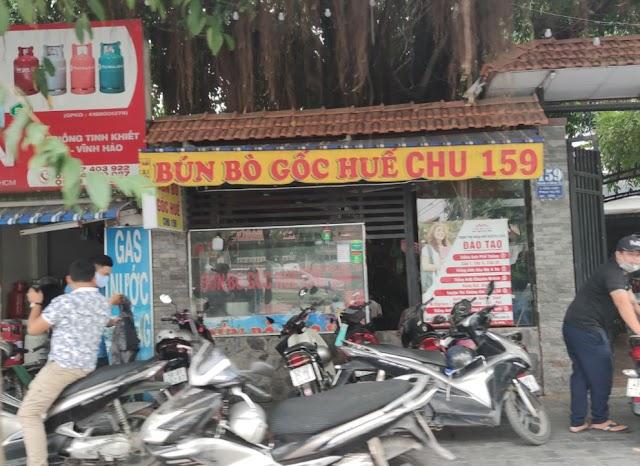 Địa chỉ quán Bún bò Huế gốc Chu: số 159 Trần Não, Bình An, Quận 2
