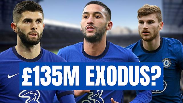 CHELSEA NEWS | PULISIC, ZIYECH & WERNER IN £135M EXODUS?