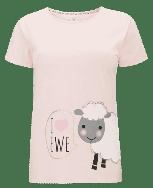 Camiseta de pijama con print de borrego de Primark