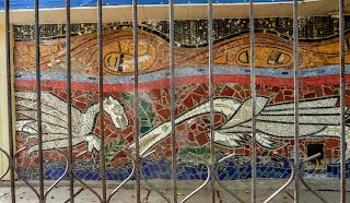 Донецк. Школа № 5. Мозаичное панно