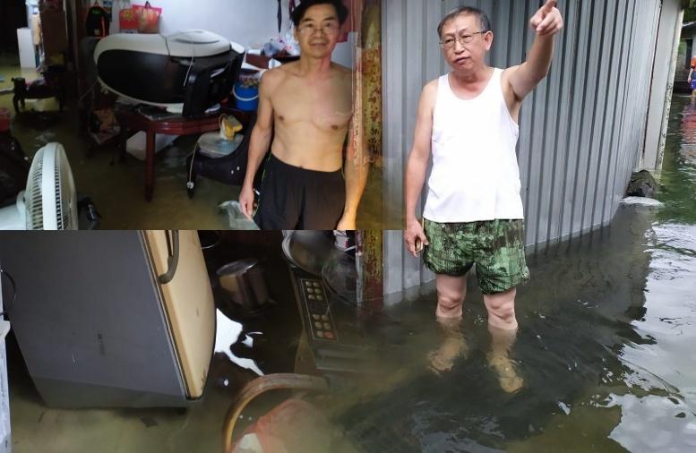 Dibawah Peringatan Hujan Lebat 'Yellow Amber', 3 Desa di Tin Shui Wai terendam Banjir, 10 Warga terjebak didalamnya