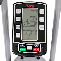 Sunny Health & Fitness SF-B2706 Tornado Air Bike's LCD console, Bluetooth heart-rate compatible