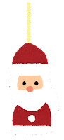 クリスマスの飾りのイラスト(サンタクロース)