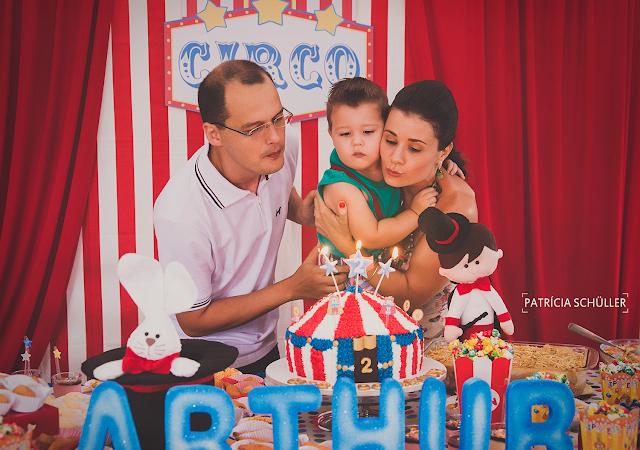 2 aninhos Arthur tema circo parabéns pra você Patrícia Schüller Fotografias