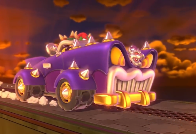 Bowser car Super Mario 3D World pimpmobile