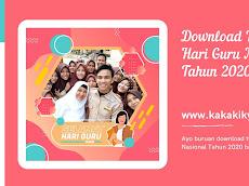 Download Twibbon (Bingkai Foto) Hari Guru Nasional 2020