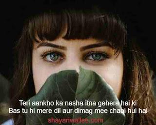 2 line shayari on eyes in hindi