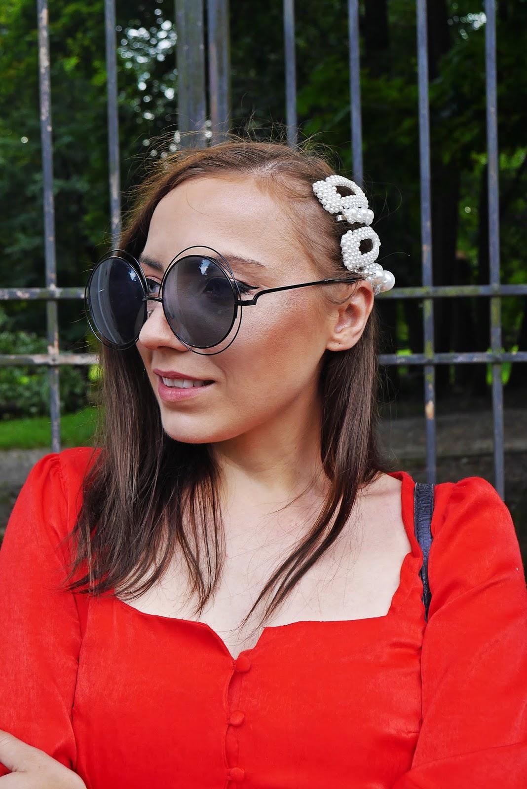 spinki z perełkami z aliexpress top z bufkami bershka karyn blog modowy blogerka modowa