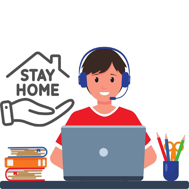 Gambar Kartun Anak Belajar di Rumah (32)