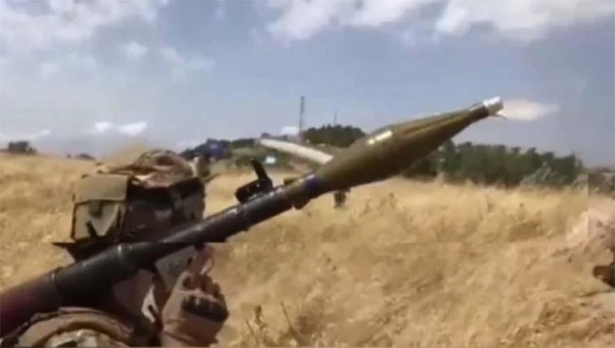 Tentara Lebanon dengan RPG