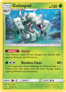 Golisopod Guardians Rising Pokemon Card