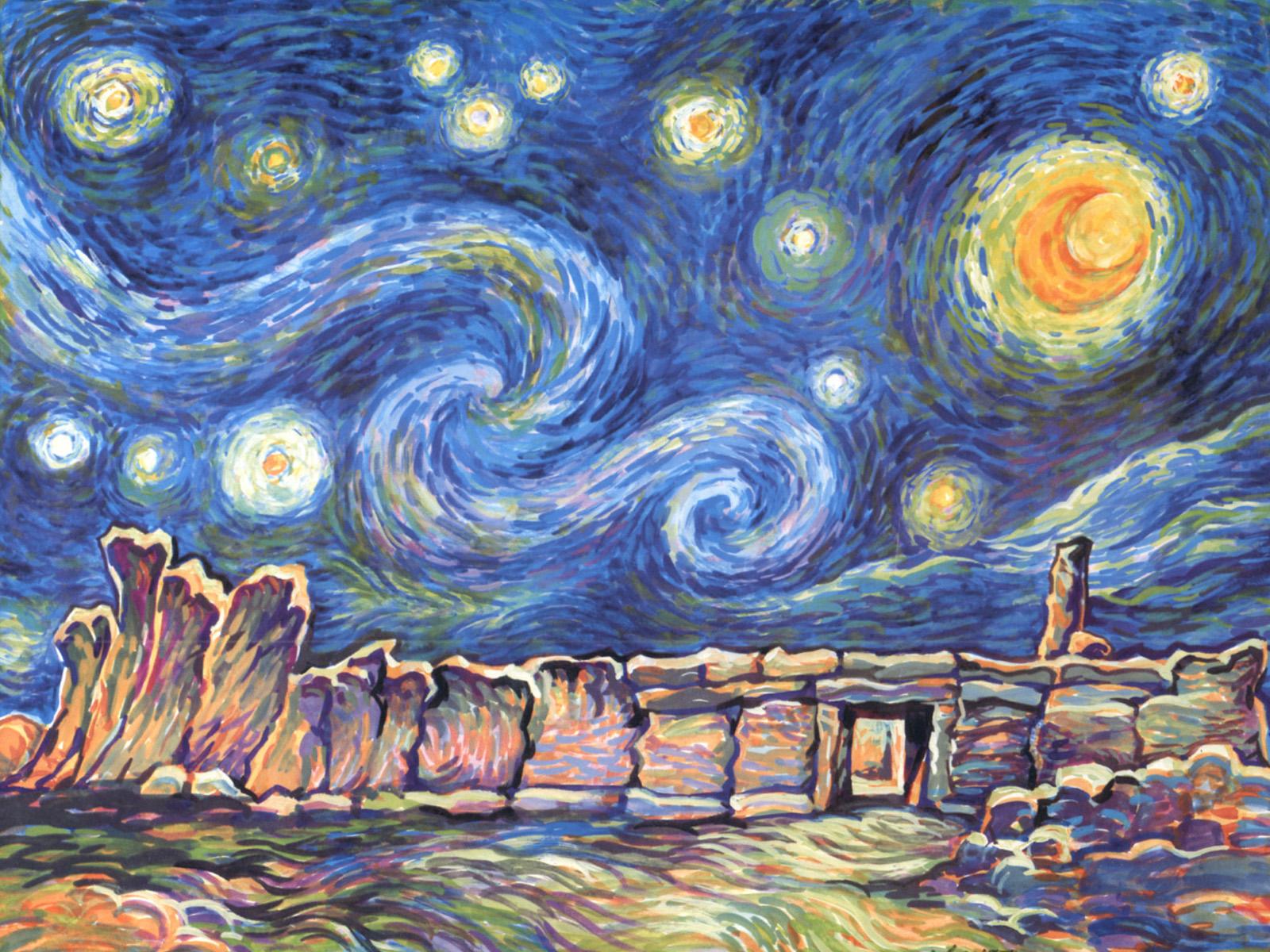 Starry Night Wallpaper | Van Gogh Wallpaper for Walls ... |Van Gogh Wallpaper Starry Night