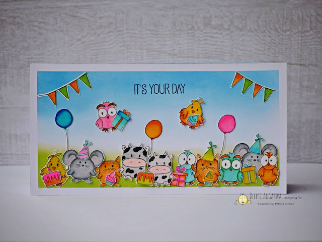 Critter birthday card- Kinda cute by patricia