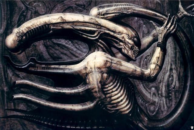 Alien original de H. R. Giger en el Necronom IV