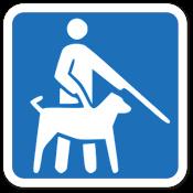Símbolo de Acessibilidade - Deficiência Visual - Cão Guia