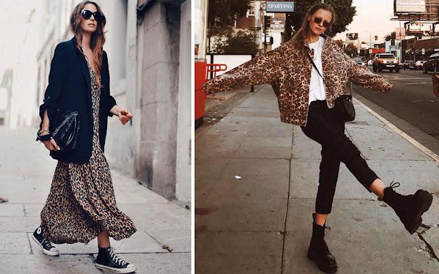 Леопардовое платье и жакет свободного кроя