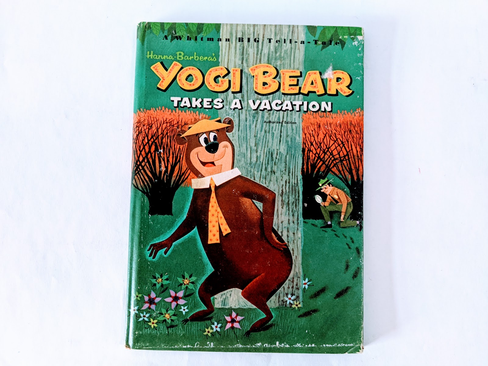 picture of yogi bear children's book on a white background