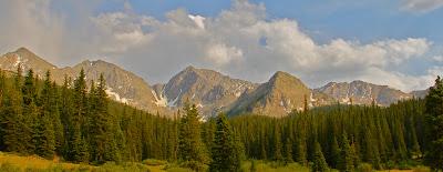 The Three Apostles are a scenic ridge near Lake Ann Colorado.