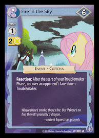 MLP Fire in the Sky The Crystal Games CCG Card