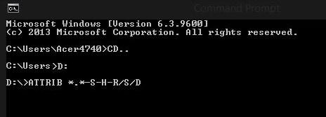 cara mengembalikan file yang terhapus menggunakan cmd