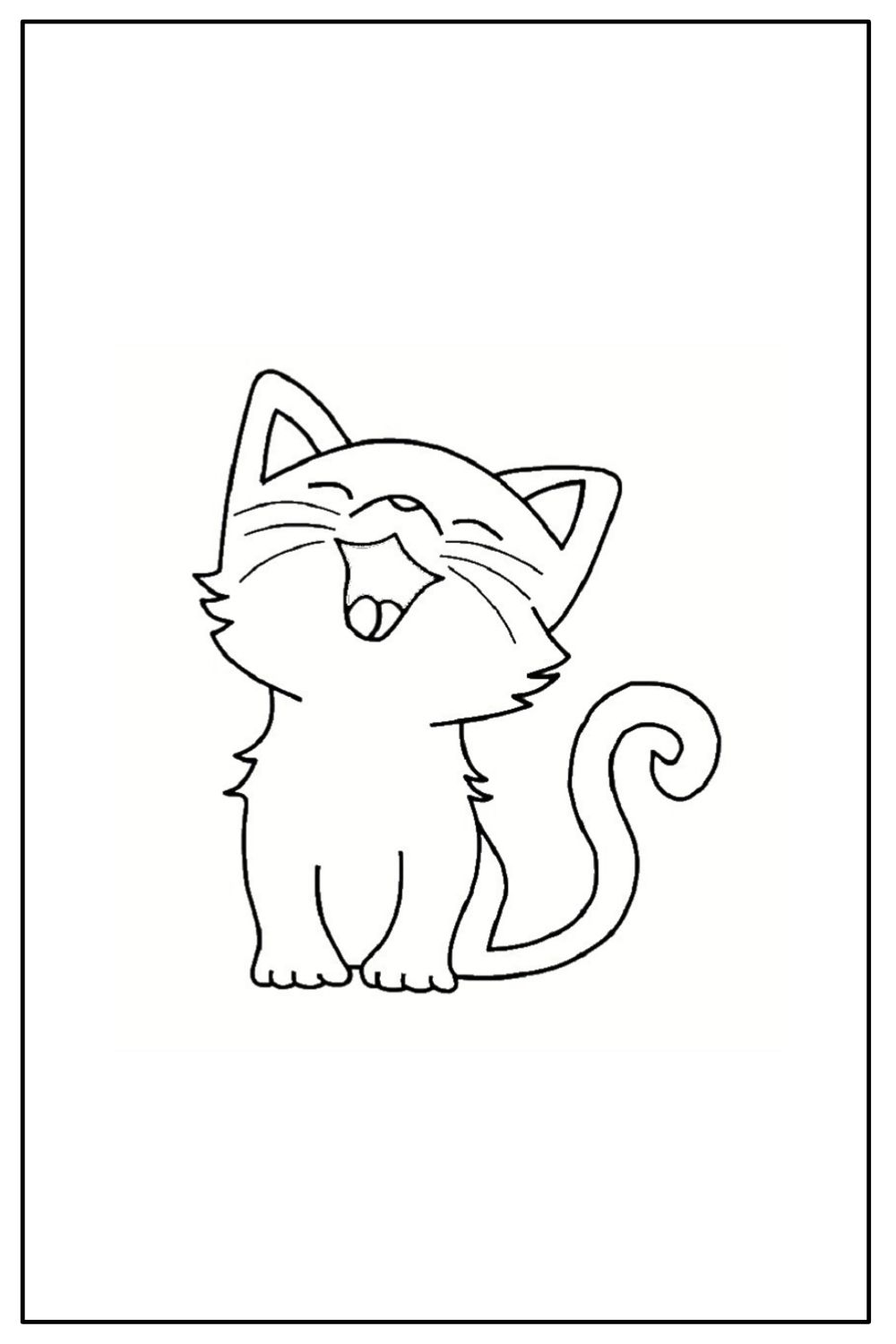 Download Wallpaper Coloriage chat facile