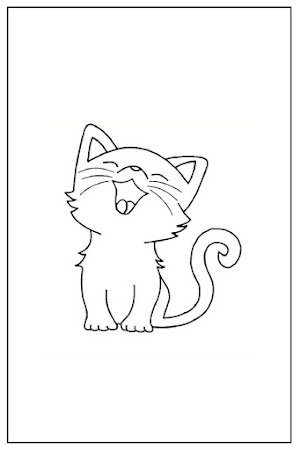 Coloriage chat facile