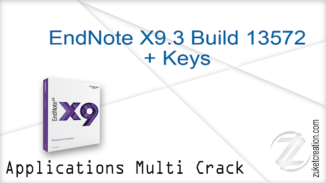 EndNote X9.3 Build 13572 + Keys