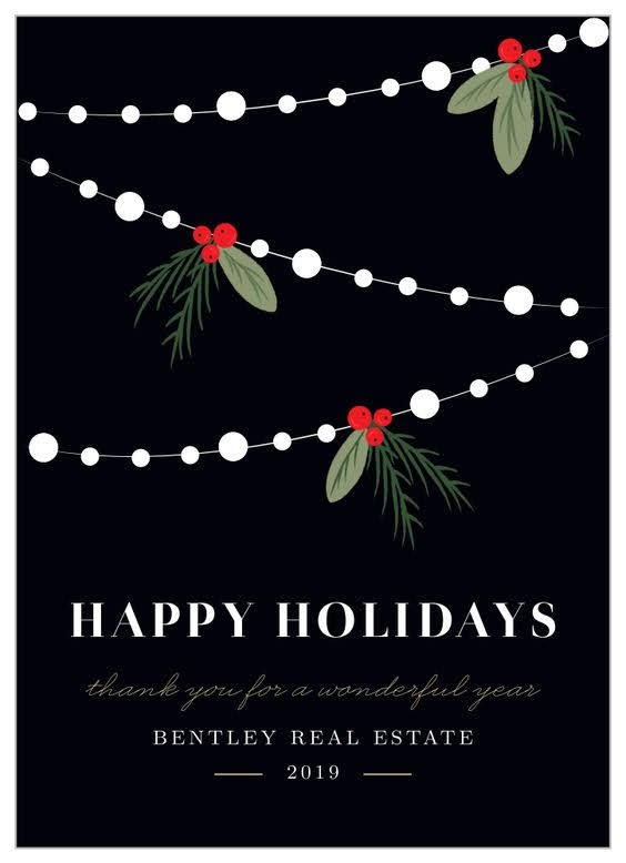 Twinkle Lights Corporate Holiday Card | Basic Invite