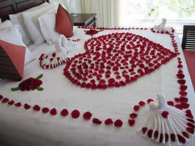 Room Decoration for Honeymoon or Wedding Night