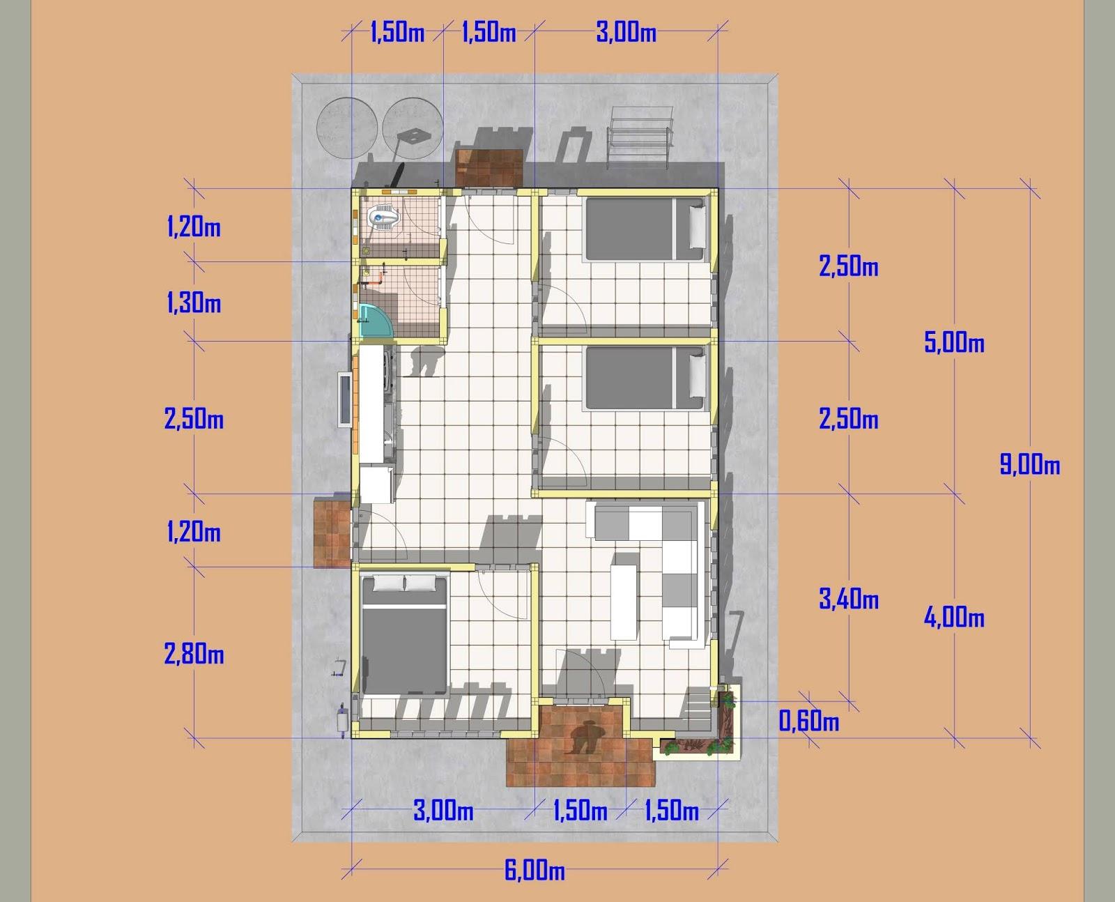 gambar rumah 6x9 3 kamar