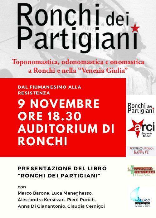 grain So far mode  Dal fiumanesimo,alla Resistenza, si presenta il libro Ronchi dei  Partigiani. A Ronchi il 9 novembre