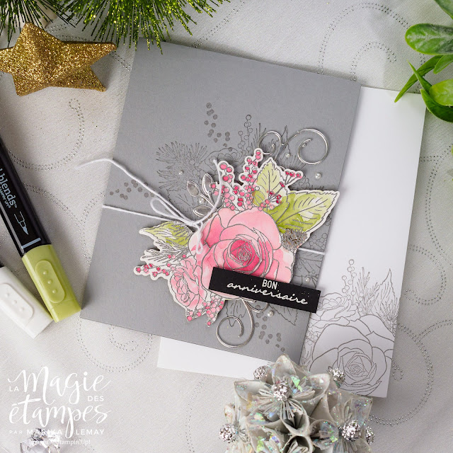 lot Rose de Noël Stampin' Up!