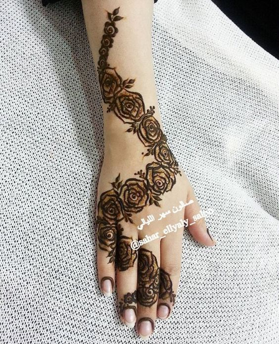 10 stunning rose mehndi designs for all occasions bling sparkle - Simple Henna Tattoo Patterns Joy Studio Design Gallery