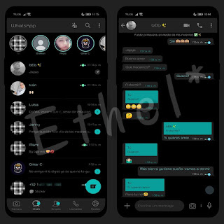 Dark Black Theme For YOWhatsApp & Fouad WhatsApp By Ethel