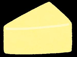 三角形のチーズのイラスト(パルメザンチーズ)