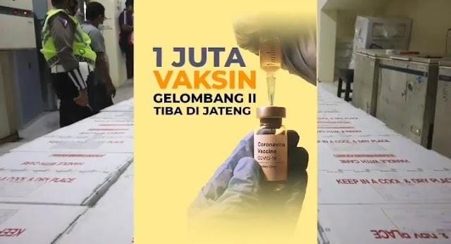 1 Juta Vaksin Tahap Dua Telah Tiba Di Semarang