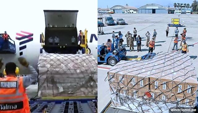 Llegan 31 ventiladores mecánicos de China a Perú