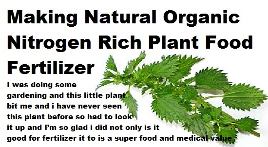 Make your own Natural Organic Nitrogen Rich Plant Food
